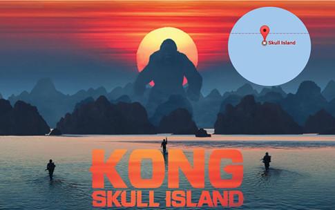 Đảo Đầu lâu của 'Kong: Skull Island' lên sóng Google Maps