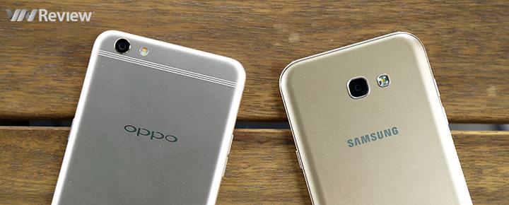 """Đọ hiệu năng, pin Oppo F3 Plus và Galaxy A7 2017: chọn """"hổ"""" hay """"trâu""""?"""