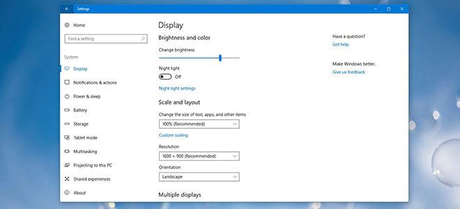 Cách đặt độ phân giải Windows 10 cho các màn hình khác nhau
