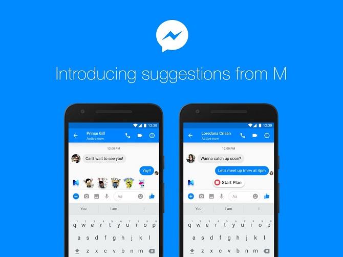 Facebook bắt đầu tích hợp trợ lý ảo M vào Messenger