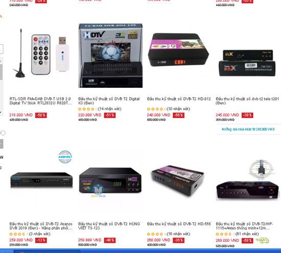 Ế ẩm, đầu thu truyền hình DVB-T2 bán lỗ để xả hàng tồn