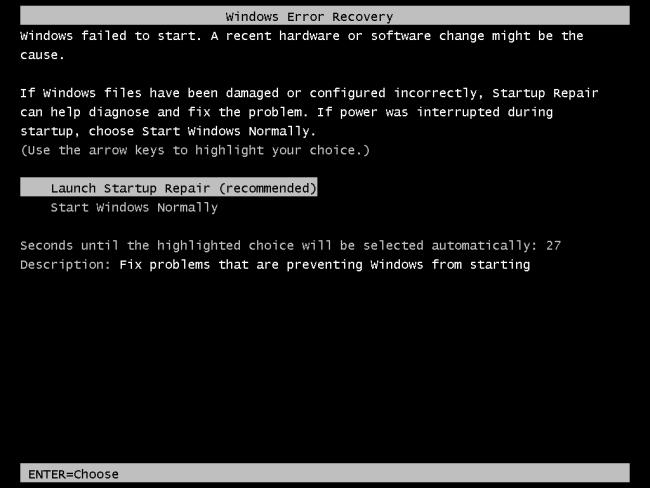 Máy tính không khởi động