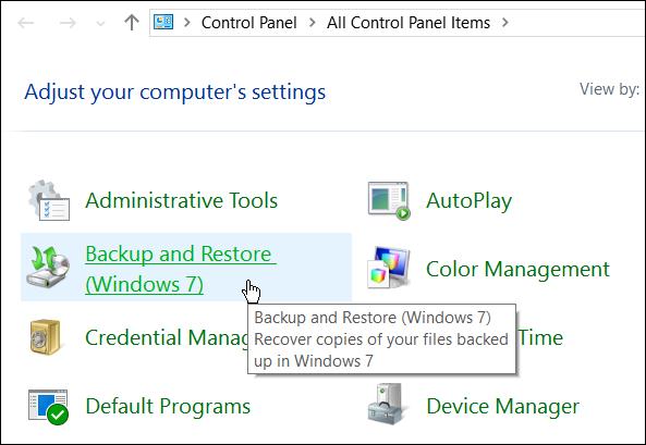 Hướng dẫn tạo bản sao lưu hệ thống trong Windows 10 - ảnh 3