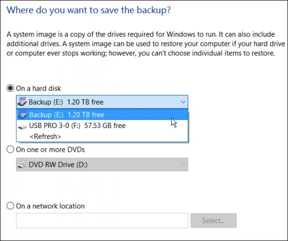 Hướng dẫn tạo bản sao lưu hệ thống trong Windows 10 - ảnh 5