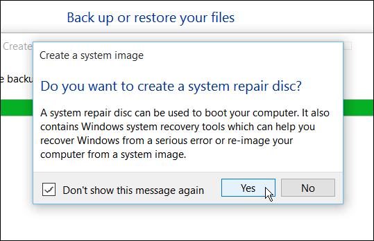 Hướng dẫn tạo bản sao lưu hệ thống trong Windows 10 - ảnh 8