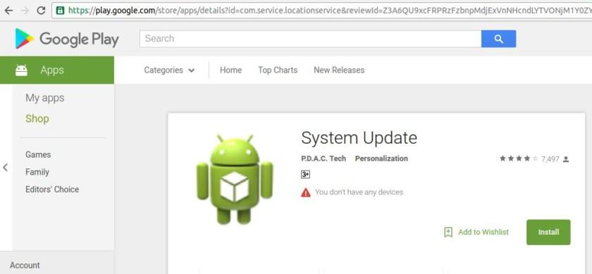 """Được cả triệu lượt tải, ứng dụng độc hại """"System Update"""" mới bị gỡ khỏi Play Store"""