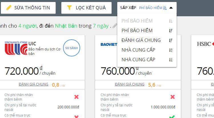 Dùng thử dịch vụ so sánh bảo hiểm du lịch quốc tế trên GoBear Việt Nam