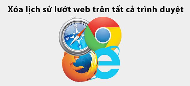 Cách xóa lịch sử lướt web trên tất cả trình duyệt