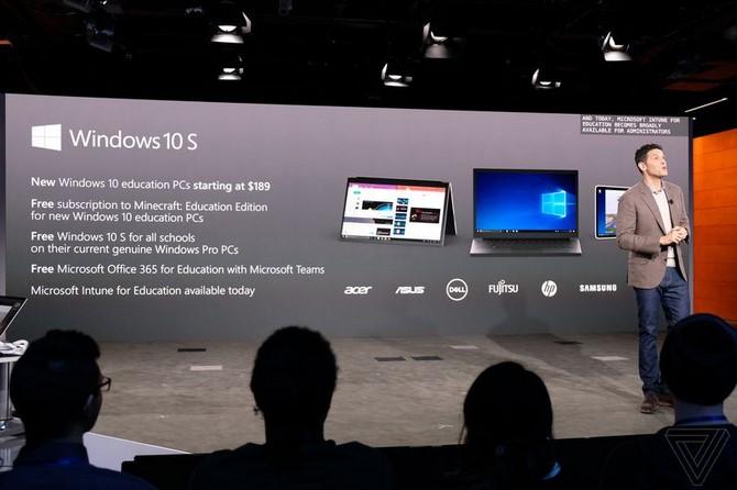 Microsoft ra mắt Windows 10 S, đối thủ trực tiếp của Chrome OS