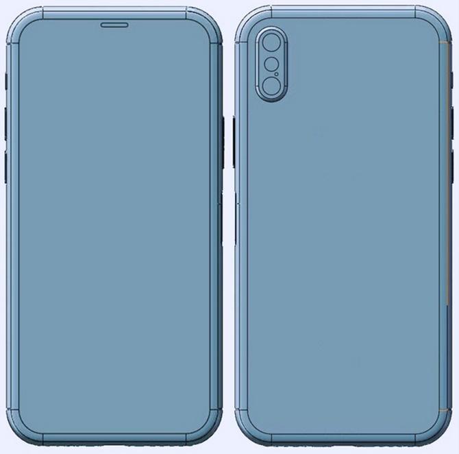 Lộ diện bản vẽ CAD của iPhone 8