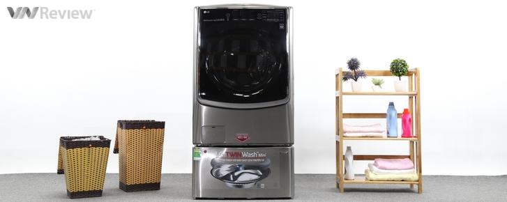 Trải nghiệm máy giặt LG TWINWash: 2 lồng giặt song song, điều khiển bằng smartphone
