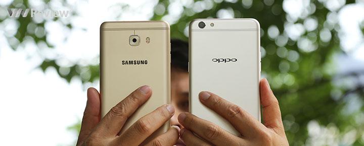 So camera Oppo F3 Plus và Galaxy C9 Pro
