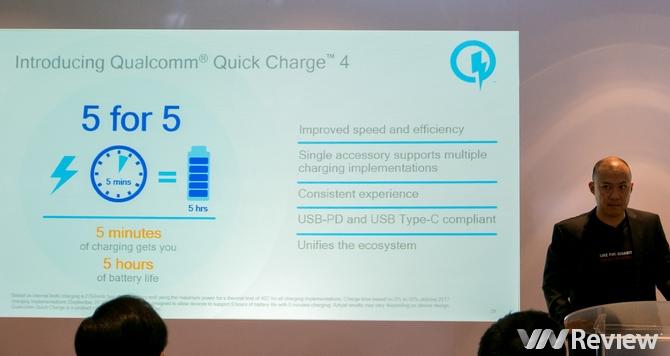 Qualcomm Quick Charge 4: Sạc 5 phút đủ dùng 5 tiếng - 187249