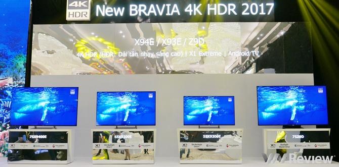 Sony ra mắt loạt TV 4K HDR dòng X và A mới, có TV OLED