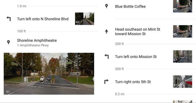 Chế độ StreetView tích hợp sẵn trong tính năng dẫn đường chi tiết