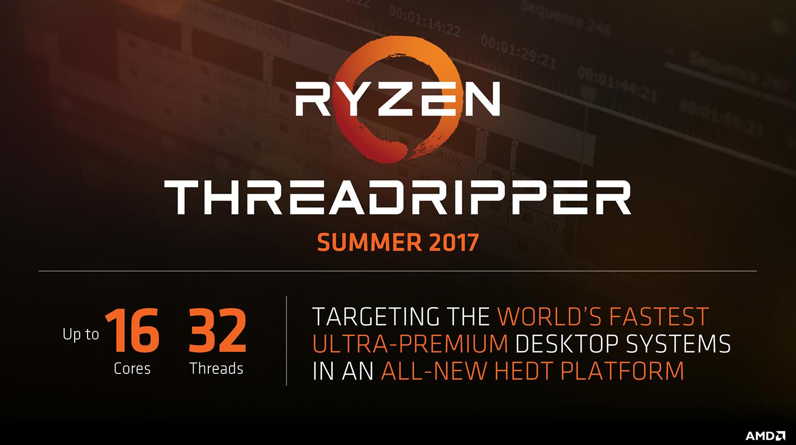AMD chính thức xác nhận CPU 16 lõi Ryzen Threadripper