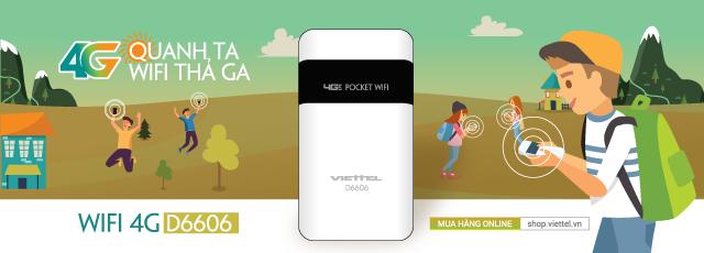Phát WiFi từ mạng 4G bằng router Viettel D6606