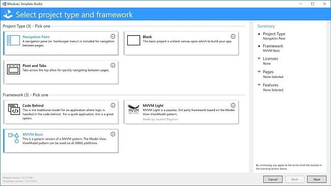 Windows Template Studio giúp lập trình ứng dụng dễ hơn