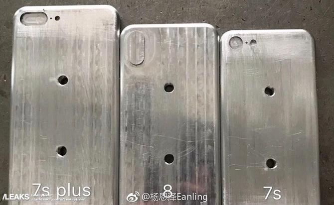 Lộ ảnh so sánh khuôn đúc 3 phiên bản iPhone 2017