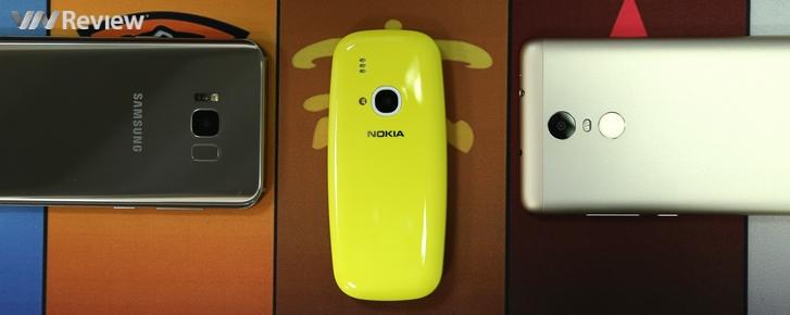So nhanh camera của Nokia 3310 với... Galaxy S8 và Xiaomi Redmi Note 3 Pro