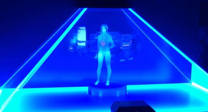 Bản mô phỏng trợ lí ảo Cortana theo kiểu... HoloLens