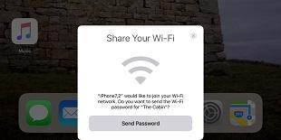 iOS 11 cho phép chia sẻ WiFi cho thiết bị khác mà không cần mật khẩu