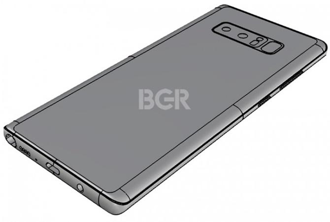 Lộ ảnh render mới của Galaxy Note 8 xác nhận vị trí cảm biến vân tay