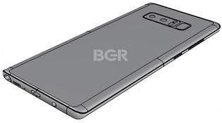 Ảnh render xác nhận vị trí cảm biến vân tay trên Galaxy Note 8