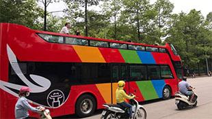 Hà Nội chạy thử nghiệm xe buýt 2 tầng 'mui trần'