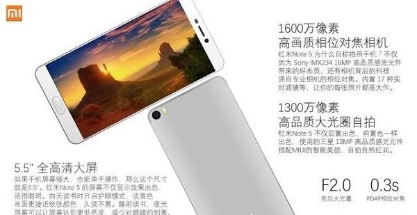 Redmi Note 5 lộ diện: Snapdragon 630/660, pin 3.790mAh - 195301