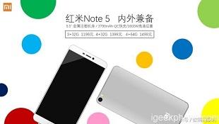 Redmi Note 5 lộ diện: Snapdragon 630/660, pin 3.790mAh