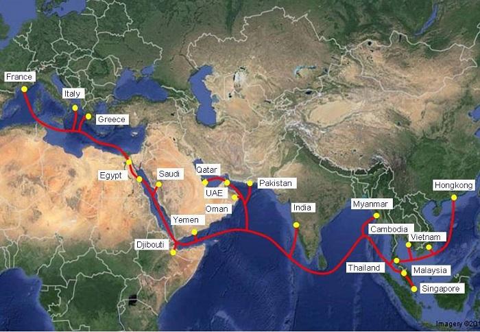 Viettel chính thức khai thác hệ thống cáp quang biển AAE-1
