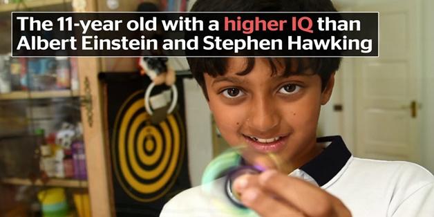 Cậu bé 11 tuổi này có chỉ số IQ cao hơn cả Albert Einstein và Stephen Hawking
