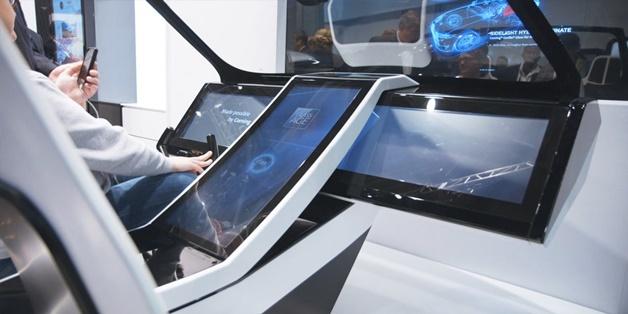 Concept xe hơi phủ đầy kính Corning Gorilla Glass