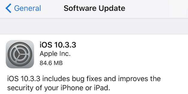 Apple phát hành iOS 10.3.3, bản vá cuối trước khi ra iOS 11