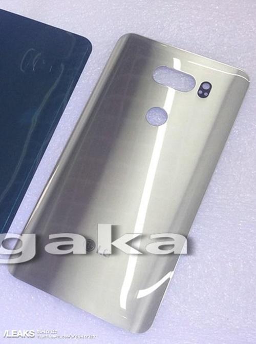 Lộ diện thiết kế mặt sau của LG V30: cong, camera kép, có cảm biến vân tay