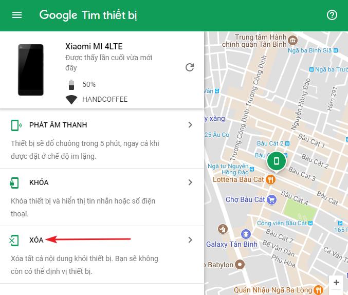 Cách tìm điện thoại Android bị thất lạc bằng máy tính