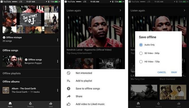 YouTube Music cho phép lưu bài hát, album và danh sách nhạc để nghe ngoại tuyến - ảnh 1
