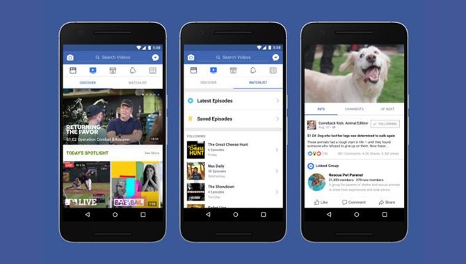 """Facebook giới thiệu """"Watch"""": một nền tảng dành cho các chương trình video"""