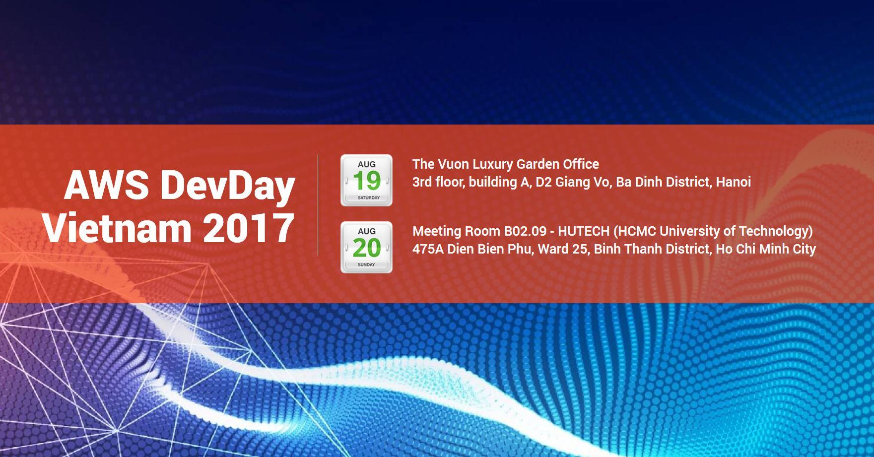Sự kiện DevDay của Amazon Web Services dành cho các nhà phát triển ứng dụng tại Việt Nam