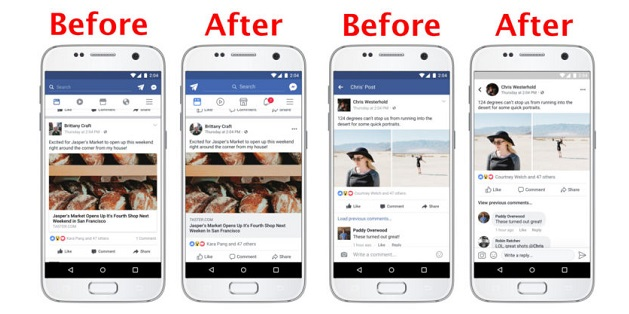 """Facebook trên Android cập nhật, """"khoác áo"""" giao diện mới"""