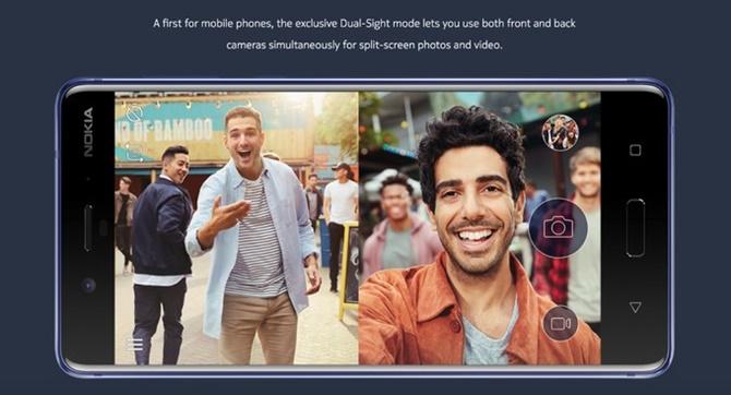 """Đây là cách camera kép và chế độ """"#Bothie"""" làm việc trên Nokia 8"""