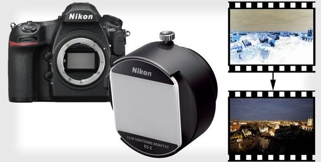 Nikon D850 có thể scan film bằng adapter bán riêng