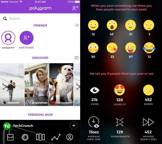 Ra mắt mạng xã hội Polygram: Nhận diện cảm xúc từ mặt người dùng