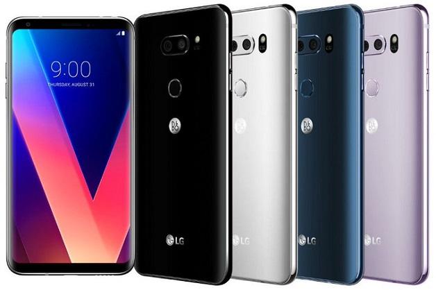 LG V30 có bốn màu sắc lựa chọn và logo B&O Play sau lưng?