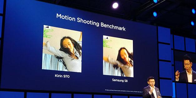 """Huawei khoe chip Kirin 970 chụp ảnh chống rung """"hơn hẳn"""" Galaxy S8"""