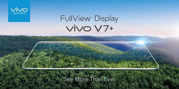 Vivo ra mắt V7+ với màn hình tràn viền FullView, giá từ 9-10 triệu đồng