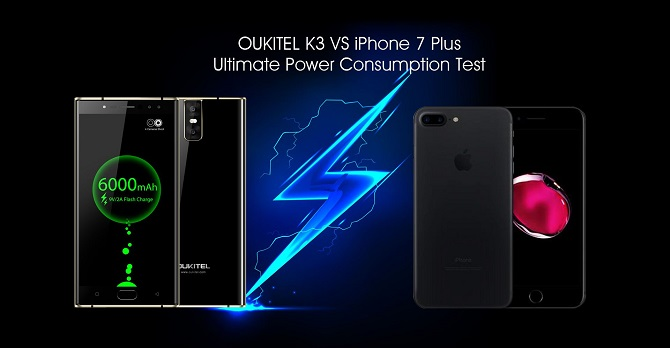 iPhone 7 Plus và Oukitel K3: smartphone nào có pin khỏe hơn?