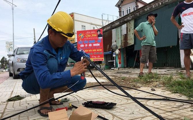 Mạng lưới viễn thông của VNPT đảm bảo thông suốt trong bão số 10