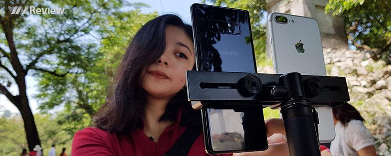 So nhanh ảnh chụp xóa phông trên Galaxy Note8 và iPhone 7 Plus